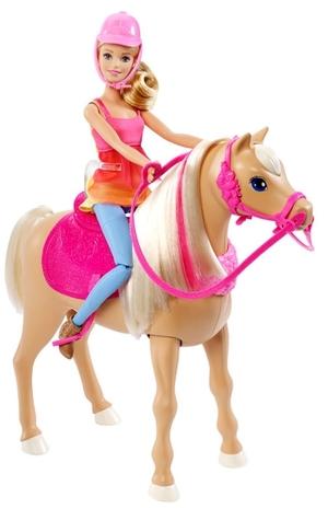 Barbie Hundesuche Tanzspass Pferd und Puppe, Batterien 4xAAA exkl. ab 3 Jahren 57003030
