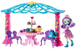 ENCHANTIMALS Teepavillon 35x24x11 cm, Spielset mit Puppe und Zubehör, ab 4+ 57005049
