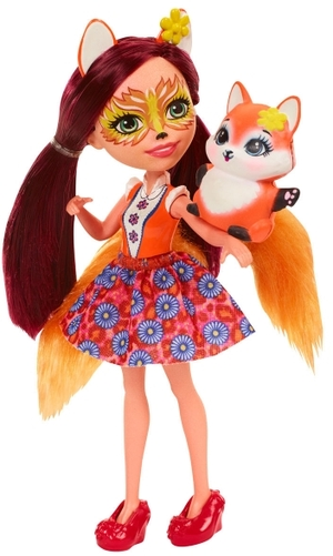 ENCHANTIMALS Fuchsmädchen Felicity Fox, Puppe 15 cm, mit Füchslein, ab 4 Jahren 57005089