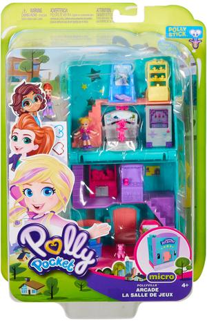 polly pocket Spielhalle Pollyville, Puppen Polly und Lila, Zubehör, ab 4+ 57007441