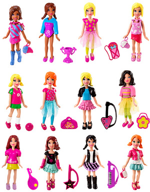 polly pocket Polly Pocket Bunter Sammel- Spass, assortiert, 1 Outfit mit Accessoires 44040