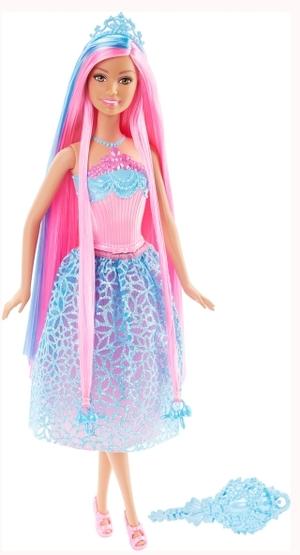 Barbie Zauberhaar blau extra langes Haar 20 cm, ab 3 Jahren 57010061
