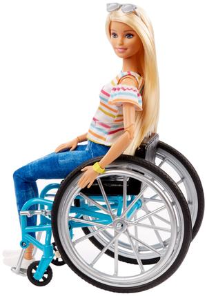 Barbie Rollstuhl mit Puppe blond und Zubehör, ab 3+ 57019622