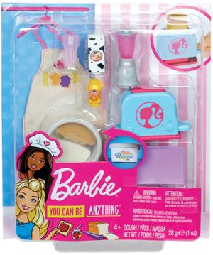 Barbie C&B Frühstück Cooking & Baking, Zubehör, Outfit, Teig, ab 4 Jahren 57019641