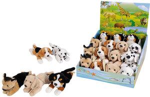 Nicotoy Plüsch Hund liegend 5fach sortiert, Labrabor, Sennen- hund, Dalmatiner 58532410