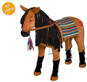 HAPPY PEOPLE Indianerpferd mit Sound Sattelhöhe 50 cm, L: 80 cm, H: 70 cm, Tragkraft 100 kg 58558062