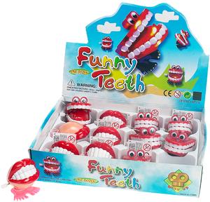 Aufzieh Zähne 2-fach (eines wird geliefert sortiert, 4cm, Kunststoff 58615852