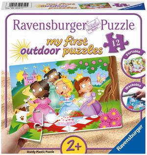 Ravensburger Puzzle Outdoor Prinzessinnen 12 Teile, Plastik, wasserfest, ab 2 Jahren 60005612