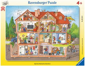 Ravensburger Puzzle Blick ins Haus 30 Teile, Rahmenpuzzle, ab 4 Jahren 60006154