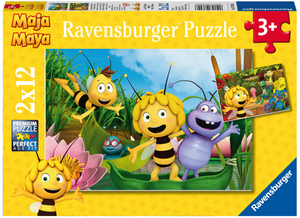 Ravensburger Puzzle Ausflug m.Biene Maja 2x12 Teile, 26x18 cm, ab 3 Jahren 60007624