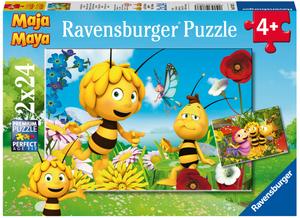Ravensburger Puzzle Biene Maja u.Freunde 2x24 Teile, 26x18 cm, ab 4 Jahren 60007823