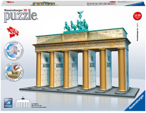 Ravensburger Puzzle 3D Brandenburger Tor 324 Teile Kunststoff, ab 12 Jahren, 30x10x27 cm 125517