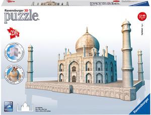 Ravensburger Puzzle 3D Taj Mahal 216 Teile, Kunststoff, ab 12 Jahren, 34x34x24 cm 125647