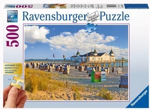Ravensburger Puzzle Strandkörbe Ostsee 500 Teile, 61x49 cm, grosse Teile für Erwachsene 60013652