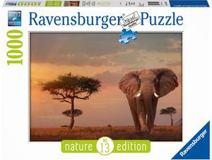 Ravensburger Puzzle Elefant im Masai Mara 1000 Teile, Nature Edition, 70x50 cm, ab 14+ 60015159