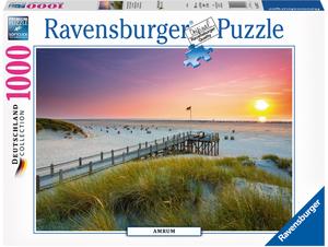 Ravensburger Puzzle Sonnenuntergang Amrum 1000 Teile, Softclick, 70x50 cm, ab 14 Jahren 60019877