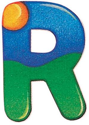 Selecta Holzbuchstaben R 5x7 cm, selbstklebend, gut wieder ablösbar 60302518