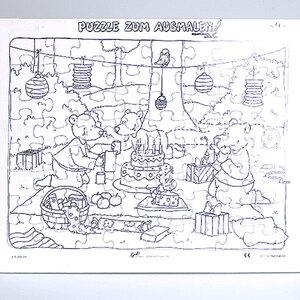 Diverse Puzzle zum ausmalen Picknick 60370203