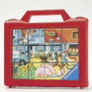 Ravensburger Würfelpuzzle Süsse Tiere 6 Teile, Kunststoff, 12x8 cm, im Koffer 60370416
