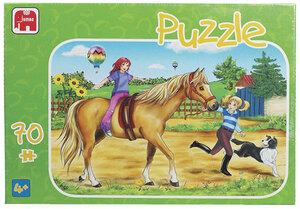 Jumbo Puzzle 70 Teile, Pferde, 4 Pferdemotive sortiert ausgelegt: je 31x22cm Jumbo;1059