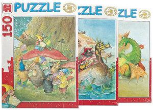 Jumbo Puzzle Phantasie, 4 Motive 150 eile, eines wird geliefert 2100
