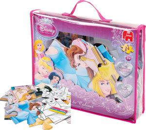 Jumbo Puzzle & Color Princess grosses 2 in 1 Bodenpuzzle 90x60 cm, 24 Teile, ab 3 J. 13147