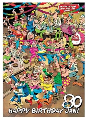 Jumbo Puzzle Alles Gute zum Geb- urtstag Jan, 1000 Teile, Puzzle ausgelegt 68x49 cm 60419029