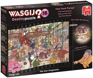 Jumbo Puzzle Wasgij Destiny Nr.18 1000 T. Fast Food Rausch, ausgelegt 69x48 cm 60419157