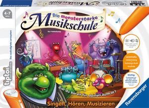Ravensburger Tiptoi Die monsterstarke Musikschule, 4-7 Jahre, 1-4 Spieler, ca. 20-30 Min. 5550A1