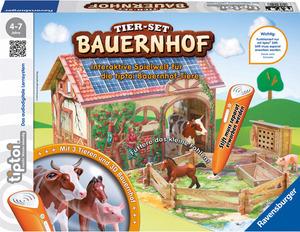 Ravensburger Tiptoi Spielset Bauernhof, d 4-7 Jahre, mit 3 Tieren, Stall und Spielunterlage 5642