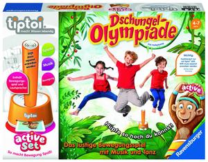 Ravensburger Tiptoi Active Set Dschungel Olympiade, Bewegungsspiel, ohne Stift, ab 4 Jahren 60500849