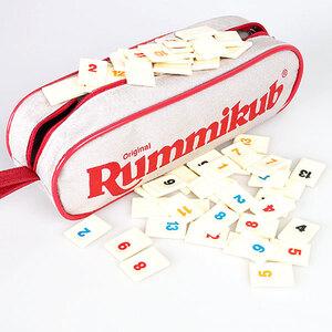 Carlit Rummikub Pocket, d/f/i ab 8 Jahren, 2-4 Spieler, Reiseausführung in Nylonetui 60505500