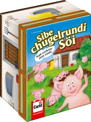 Carlit Sibe chugelrundi Söi, d/f/i ab 6 Jahren, 3-6 Spieler, Reaktionsspiel 60510145