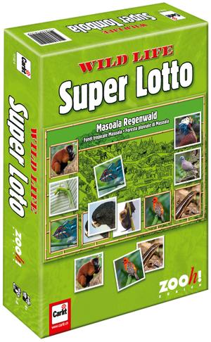 Carlit Wild Life Super Lotto, d/f/i ab 4 Jahren, 1-6 Spieler, Tiere aus dem Zoo Zürich 60510152
