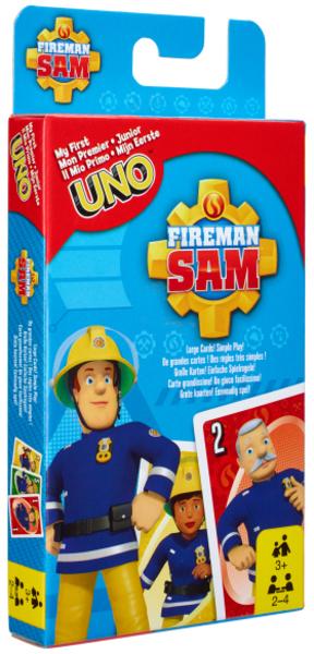 Mattel UNO Junior Feuerwehrmann Sam d/f/i, ab 3 Jahren, 2-4 Spieler 60518018