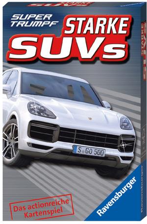 Ravensburger Quartett Starke SUVs, d Supertrumpf, 32 Karten, ab 7+ 60520344