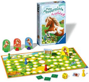 Ravensburger Pony Peppermint Ausgebüxt, d ab 5 Jahren, 2-4 Spieler, ein Würfel-Laufspiel 233397