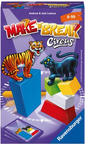 Ravensburger Make'n'Break Circus, d/f/i ab 6 Jahren, 2-4 Spieler, Geschicklichkeitsspiel 60523445