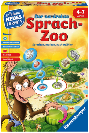 Ravensburger Der verdrehte Sprach-Zoo, d ab 4 Jahren, 2-4 Spieler, Lernspiel 60524945