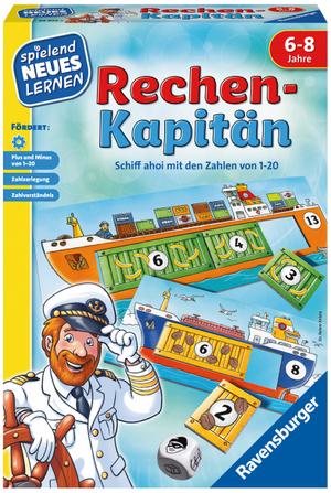 Ravensburger Rechen-Kapitän, d ab 6 Jahren, 1-4 Spieler, spielend lernen 60524972