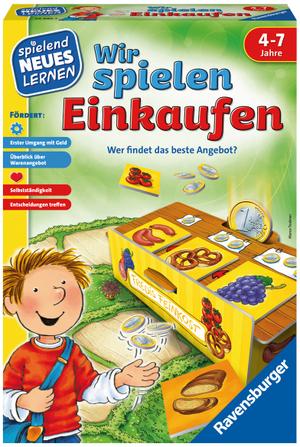 Ravensburger Wir spielen Einkaufen, d ab 4 Jahren, 2-4 Spieler, spielend lernen 60524985