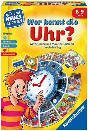 Ravensburger Wer kennt die Uhr? d ab 6 Jahren, 1-4 Spieler, spielend lernen 60524995