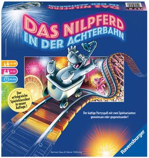 Ravensburger Nilpferd in der Achterbahn d ab 10 Jahren, 3-12 Spieler, kultiges Partyspiel 60526772