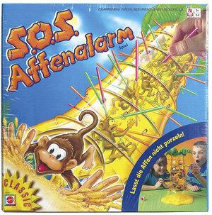 Mattel S.O.S. Affenalarm, d ab 5 Jahren, 2-4 Spieler, Geschicklichkeitsspiel 52563