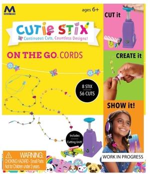 Beluga Cutie Stix Kordeln u.Schnüre Perlen-Bastelset für Kordeln oder Kabel, ab 6 Jahren