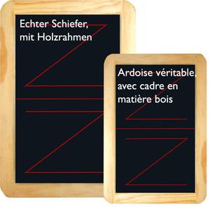 AGM Jasstafel klein Holzrahmen, 12x19 cm, echter Schiefer 62514298