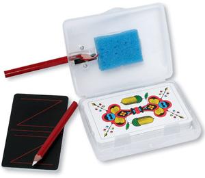 AGM Jassbox mit Spitzer, Schwamm, 2 Kreidestifte und 1 Spiel 62533543