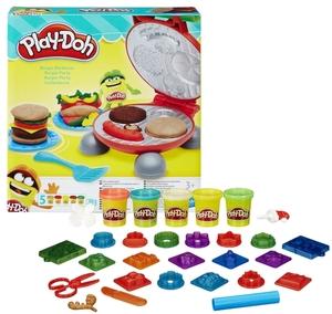 Play-Doh Burger Party mit 5 Dosen Knete à 56 g und Knetpresse, ab 3 Jahren 63105521