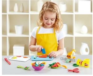 Play-Doh Schnippel und Servierset, 4 mittlere u. 2 kleine Dosen Knete, ab 3 J. 63109012