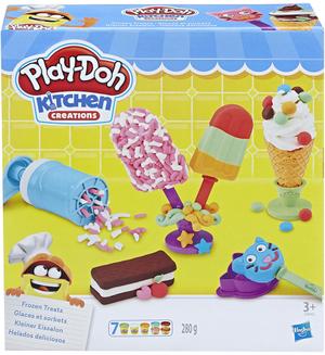 Play-Doh Kleiner Eissalon mit 7 Töpfchen Knete und viel Zubehör, ab 3 Jahren 63109042